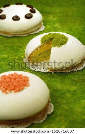 Fresh delicious delicious baking cake