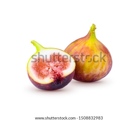 Fresh figs and dried figs isolated on white background. #1508832983