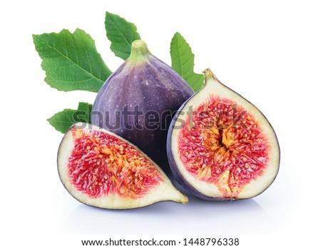 Fresh figs isolated on white background. Photo stock ©