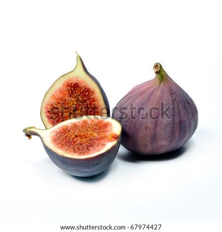 fresh figs isolated on white background