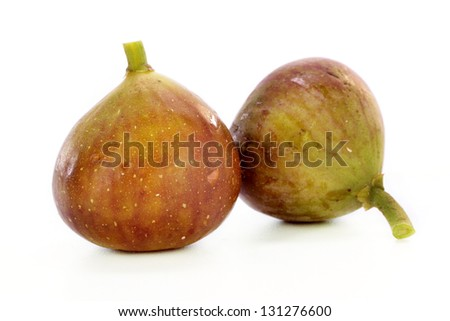 Fresh figs on white