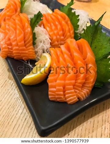 fresh fish, fresh meat, fresh salmon #1390577939