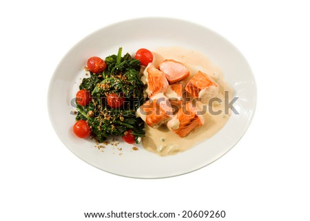 fresh food isolated on the white background