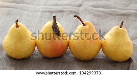 Fresh four ripe pears