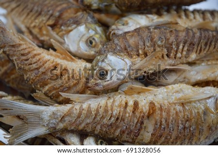 Fresh fried fish #691328056