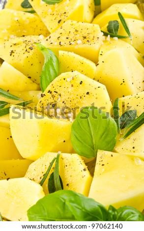 fresh fried potatoes