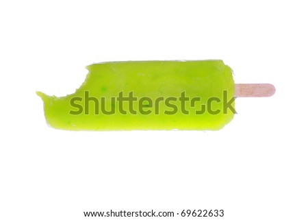 Fresh Frozen Popsicle isolated on white with room for your text