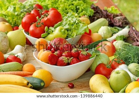 Fresh fruit and vegetable - healthy food