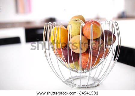 Fresh fruit at the kitchen (selective focus)