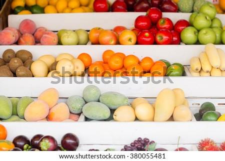 Stock Photo Fresh fruit at the market.