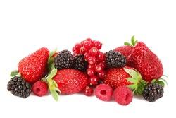 fresh fruit berries on white background