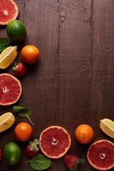 Fresh fruit frame, background, boarder, food photography, raw food, healthy foods, website image, fruit boarder, grapefruit, lemons, limes, oranges, cuties, health, raw