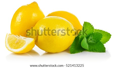fresh fruit lemons in section...