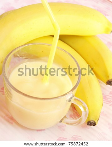 fresh fruit milk shake banana
