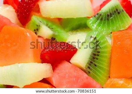 Fresh Fruit Salad background