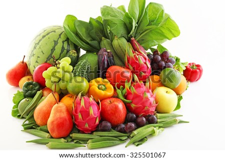 Fresh fruits and vegetables #325501067