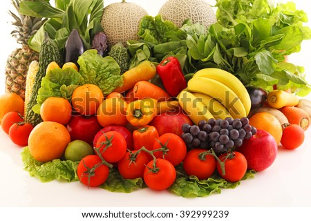 Fresh fruits and vegetables #392999239