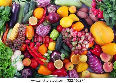 Shutterstock Fresh fruits and vegetables closeup
