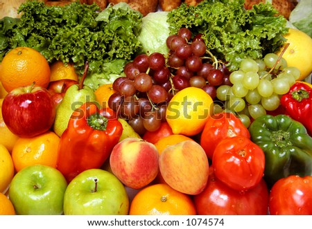 Fresh fruits and vegetables for a healthy and balanced diet. At my gallery more fruits and vegs