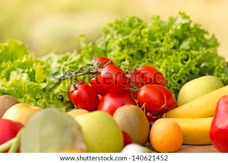 Fresh fruits and vegetables (organic food)