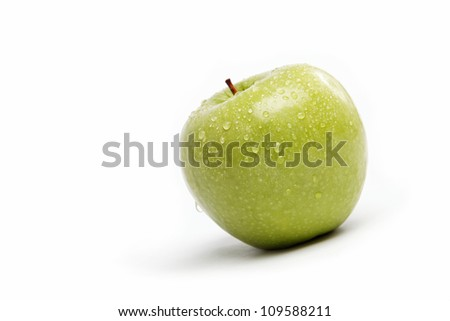 Fresh fruits. Apple isolated on a white background.