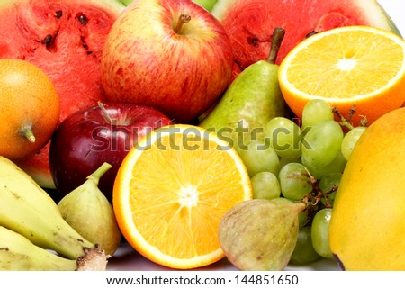 Fresh fruits for backgrounds