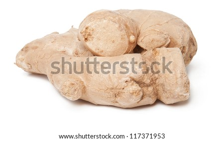 Fresh ginger isolated on a white background