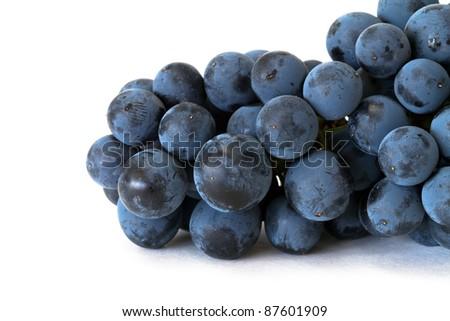 fresh grapes over white background - stock photo