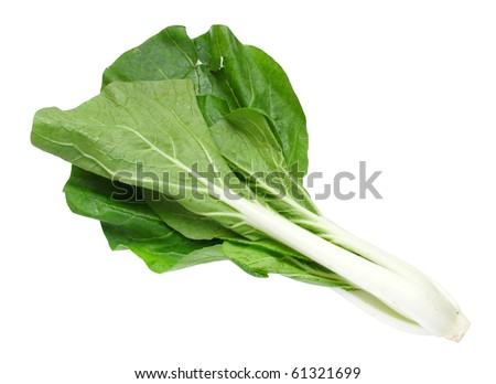 Fresh green and leafy vegetables isolated on white
