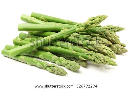 Fresh green asparagus on white Stock photo ©