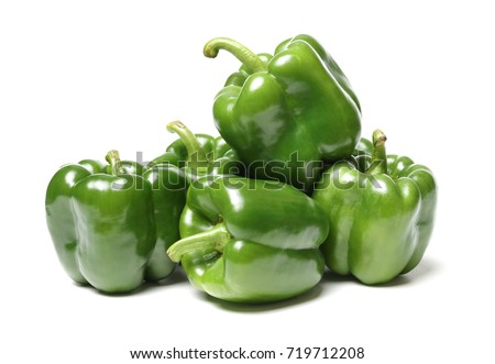 fresh green bell pepper ...