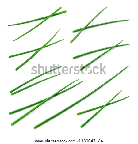 Fresh green chives. Onion isolated. Collection. Foto stock ©