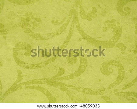 fresh green decor close up. Elegant ornamented texture. More of this motif and more textures & decors in my port.