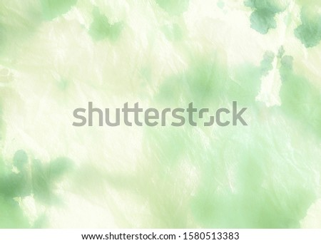 Fresh Green Dirty Art Painting. Lime Green Eco Sustainability Idea. Natural Green Healthy Living Idea. Organic Color Tie Dye Grunge Design. Leafy Color Abstract Eco Background.