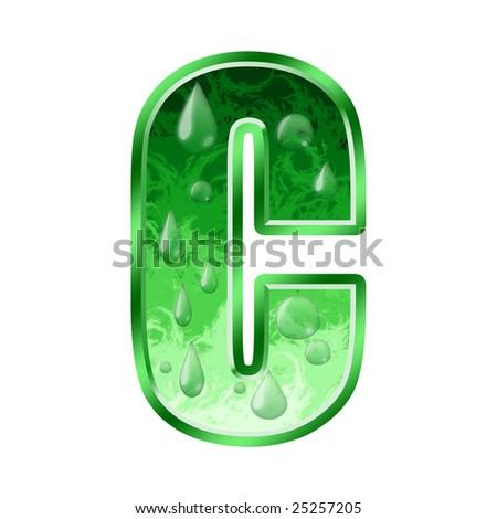 Fresh Green Letter C Stock Photo 25257205 : Shutterstock