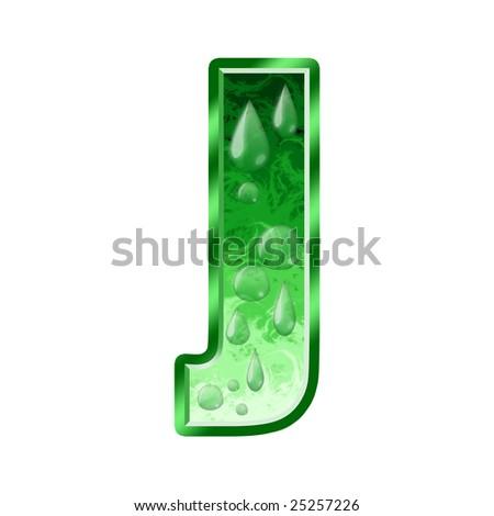 Fresh Green Letter J Stock Photo 25257226 : Shutterstock