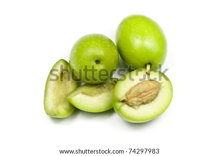 Fresh Green Olives - stock photo