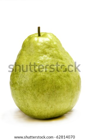 Fresh guava on white background.