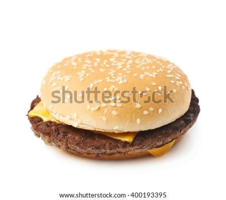 Fresh hamburger isolated #400193395