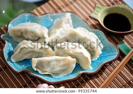 Fresh hand made Chinese dumplings