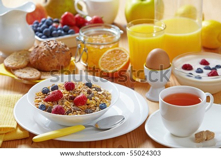 fresh healthy breakfast