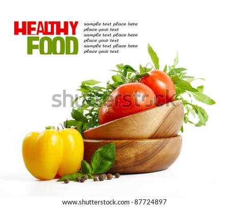Fresh healthy Food isolated on white