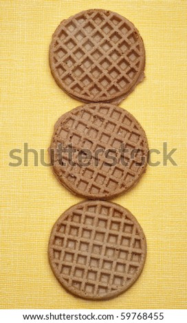 Fresh Healthy Whole Wheat Breakfast Waffles Concept, Border or Background Image