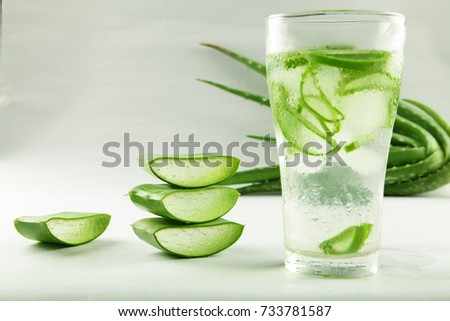 Fresh herbal health drink with aloe vera  #733781587