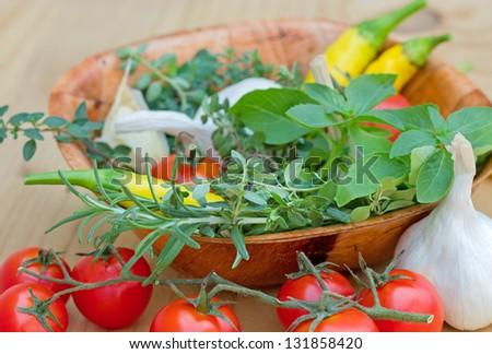 Fresh herbs - fresh spices