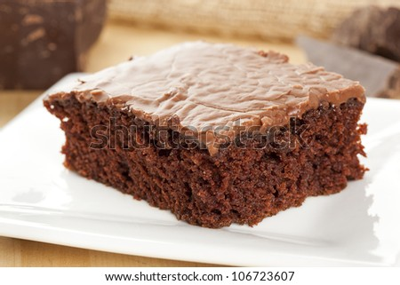 Fresh Homemade Brownie made with gourmet chocolate