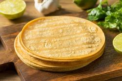 Fresh Homemade Corn Tortillas Ready to Cook