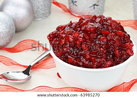 Fresh Homemade Cranberry Relish Made From Fresh