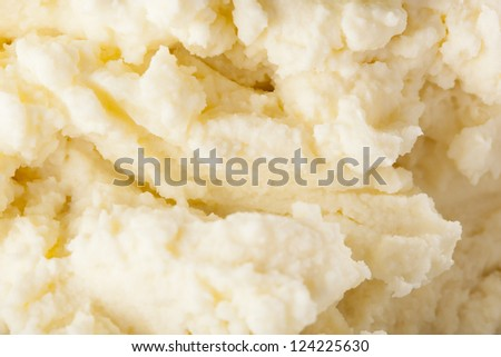 Fresh Homemade Mashed Potatoes against a background