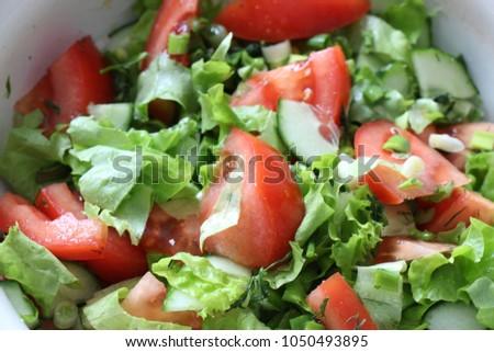 fresh homemade salad #1050493895